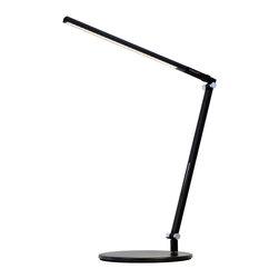 Koncept - Koncept AR1000 Z-Bar Solo Metallic LED Desk Lamp, Black, Small - Koncept AR1100-W-MBK-DSK Z-Bar Solo Mini Metallic Black LED Desk Lamp