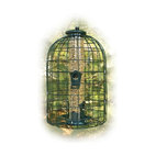 Woodlink - Caged Seed Tube Feeder - Caged Seed Tube Feeder. Mixed Seed Feeder. 1 1/2 in grid with a decorative design that comes fully assembled. Large bird and squirrel resistant! Powder coated metal grids make it easy for birds to feed and move around, while protecting them from predators