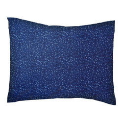 SheetWorld - SheetWorld Twin Pillow Case - Percale Pillow Case - Navy Petals - Made in USA - Pillow case is made of a durable all cotton percale material. Fits a standard twin size pillow. Features a Navy Petals print.