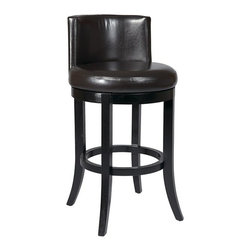Office Star - Office Star 30 Swivel Eco Leather Barstool in Espresso - OSP Designs Swivel Eco Leather Barstool in Espresso (also Available in Cream and Crimson Red).