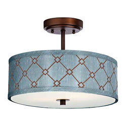Dolan Designs 5105-220 Rio Neuvelle Bronze Semi-Flush Mount