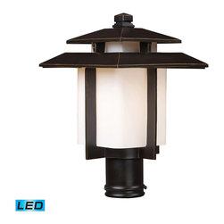 ELK Lighting - ELK Lighting 42173/1-LED Kanso Hazelnut Bronze Outdoor Post Light - ELK Lighting 42173/1-LED Kanso Hazelnut Bronze Outdoor Post Light