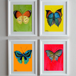 Butterfly Series (Original & prints) Set of 4 - Butterfiles Series Giclee Prints