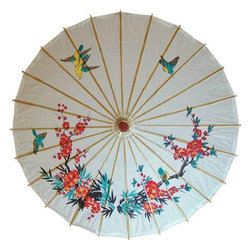 "Oriental-Decor - 32"" Springtime Scene Paper Umbrella - Stroll down the street with this fabulous Chinese umbrella, decorate your home with it or give it to someone as a gift. While it may not protect them from the rain, this beautiful paper umbrella can be used as a stunning accent in your living room, home office, restaurant or other Asian-themed space. One way or the other, it is a surefire winner."