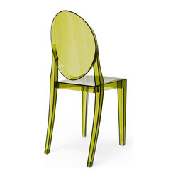 Inmod - Phantom Stacking Side Chair (Set of 2), Translucent Green - Part of the Inmod Signature Collection
