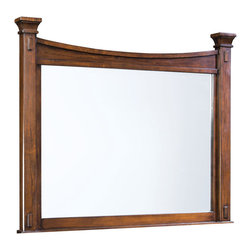 Standard Furniture - Standard Furniture Artisan Loft Rectangular Mirror in Warm Medium Oak - The rustic and bold character of Arts & Crafts styling is portrayed in the authentic Craftsman details found in Artisan Loft Bedroom.