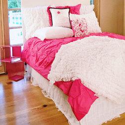 Davenport - Hot Pink Pin-Tucked Duvet Cover - Hot Pink Pin Tucked Duvet Cover