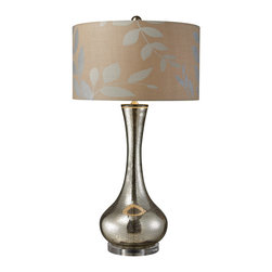 Dimond Lighting - Orion 1-Light Table Lamp in Mercury Blown Glass - Dimond Lighting D1883 Orion 1-Light Table Lamp in Mercury Blown Glass