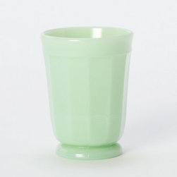 Jadeite Tumbler - Perfect for holding toothbrushes in the bathroom or a little bouquet of white lilacs or pale pink roses, this jadeite tumbler is just the right amount of cool sherbet for your summer home.