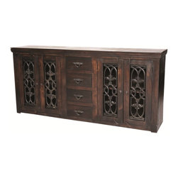 None - Joy Diamond 4-door 4-drawer Buffet - The Joy collection is an artistic interpretation of Spanish Colonial design while appreciating a casual and practical lifestyle of today's families.
