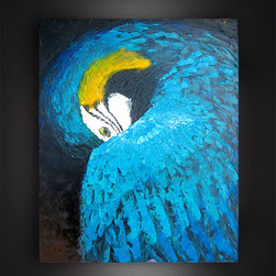 PARROT DANCE - It was painted very recently, after being inspired by the colors and movements of birds and their mating displays.