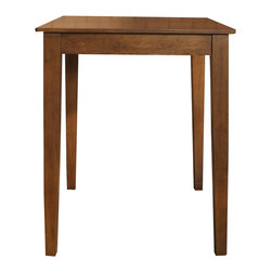 """Crosley Furniture - Crosley Furniture Tapered Leg Pub/Dining Table in Classic Cherry Finish - Crosley Furniture - Pub Tables - KD20002CH - Constructed of solid hardwood and wood veneers this pub / high dining table is designed for longevity. This versatile elegant and durable table is perfect for the kitchen basement or your living room! The sturdy 32"""" top provides plentiful space for dining a game of cards or just a place for your favorite beverage while playing a game of pool."""