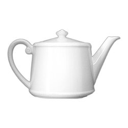 Rhone Teapot - Charm guests at once and match your table setting with ease when you have the Rhone Teapot available to serve those inviting hot drinks. A traditional cylindrical design with large capacity, the teapot has a straight spout and a practical handle that convey a welcoming, comfortable air. The very subtle dotted texture at the rim of the pot is characteristic of the elegant Rhone collection.