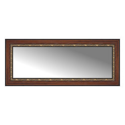 """Posters 2 Prints, LLC - 48"""" x 20"""" Malabar Walnut Custom Framed Mirror - 48"""" x 20"""" Custom Framed Mirror made by Posters 2 Prints. Standard glass with unrivaled selection of crafted mirror frames.  Protected with category II safety backing to keep glass fragments together should the mirror be accidentally broken.  Safe arrival guaranteed.  Made in the United States of America"""