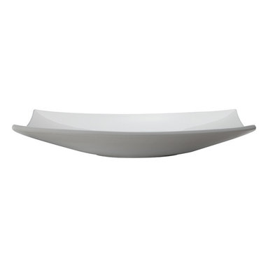 Decolav - Decolav Above-Counter Lavatory White - DECOLAV's Classically Redefined Above-Counter Rectangular Bathroom Sink has sweeping lines that culminate in its four peaked corners. Its curved rectangular shape and thin walls will enhance your bathroom setting.
