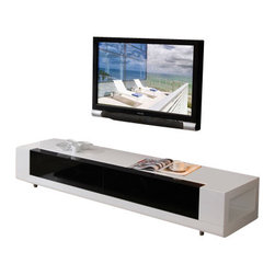 B-Modern - B-Modern Editor  TV Stand, White - The Editor is the epitome of cutting-edge contemporary design; polished yet charismatic. This model is designed to set a romantic and modern atmosphere in the room. It features 2 types of finishes: Black Ash Veneer and White High Gloss. Equipped with soft-closing, mirrored, black glass drawers, the Editor will surely liven up any room. The low-profile design speaks boldly. The Editor can be the center of attention and a conversational piece in your home. It is created by the B-Modern Design team in Los Angeles, CA.