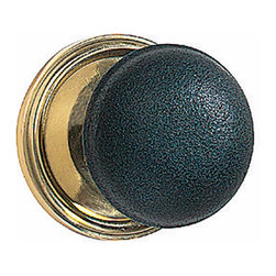 "Renovators Supply - Door Knobs Black Solid Brass/Black Door Knob Pair | 50032 - Door Knobs: This pair of solid brass door knobs features a distinctive black finish. Comes complete with a precision machined 1/4"" square spindle. The knob has a 2 1/4"" diameter."
