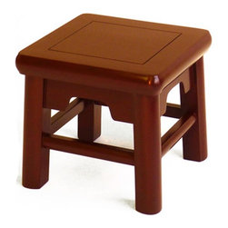 Gingko - Ox Stool, Red - Tiny, mighty and mighty cute! This hardworking step stool will give a leg up to just about anything — you, your feet, your decorative objects or your books. Handmade of solid elm, it features all hand-cut joints with no nails or screws involved.
