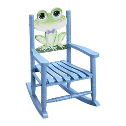 Fantasy Fields - Fantasy Fields Rocking Chair - Frog Multicolor - W-8341A - Shop for Rocking from Hayneedle.com! The friendly frog on the Teamson Design Rocking Chair - Frog provides your child a perfect seat for reading or watching television. Looking quite dapper in his bow tie this frog provides a comfy back rest on the hand-carved hand-painted chair. High quality sturdy construction ensures that this chair will last for years. Some assembly is required and instructions are included. This child's rocking chair measures 15L x 18W x 21H inches and is intended for children ages 3 to 8. About Teamson DesignBased in Edgewoood N.Y. Teamson Design Corporation is a wholesale gift and furniture company that specializes in handmade and hand-painted kid-themed furniture collections and occasional home accents. In business since 1997 Teamson continues to inspire homes with creative and colorful furniture.