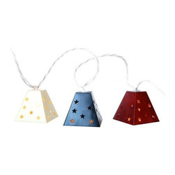 10 Count Lighted Metal Lanterns - I'm always keen to add in atmospheric lighting when I entertain, and this chain of metal lanterns from Target would be perfect for a Fourth of July tabletop. Consider hanging them above the table, or string around the room for added atmosphere.