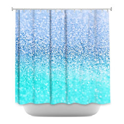 DiaNoche Designs - Shower Curtain Artistic Gatsby Ice Cold Mint - DiaNoche Designs works with artists from around the world to bring unique, artistic products to decorate all aspects of your home.  Our designer Shower Curtains will be the talk of every guest to visit your bathroom!  Our Shower Curtains have Sewn reinforced holes for curtain rings, Shower Curtain Rings Not Included.  Dye Sublimation printing adheres the ink to the material for long life and durability. Machine Wash upon arrival for maximum softness on cold and dry low.  Printed in USA.