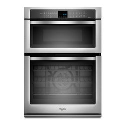 """Whirlpool - WOC95EC0AS 30"""" Single Electric Wall Oven With 5.0 Cu. Ft. Self-Cleaning  Microwa - The Whirlpool WOC95EC0A 50 Cu Ft capacity and 14 Cu Ft capacity microwave provides enough space to handle family meals Digital controls provide a sophisticated look are easy to clean and can be set with a simple touch 10 power levels and 900 watts of..."""