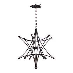 Crystorama - Crystorama 9236-EB Astro 4 Light Chandeliers in English Bronze - Bring Stargazing indoors with this conversation starter. A little bit cowboy, a little bit Olde World, and a little bit modern, the Astro collection marries hallmarks of each with whimsy and out of this world styling for a variety of decors.