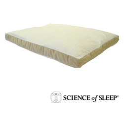 Science of Sleep - Science of Sleep Trim Sleeper Pillow for Stomach Sleepers - This comfortable pillow for stomach sleepers is perfect for anyone who enjoys sleeping on his or her stomach. The pillow features a supportive inner layer that is designed to reduce neck strain so you can wake up feeling rejuvenated.