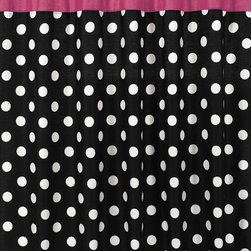Sweet Jojo Designs - Sweet Jojo Designs Hot Dot Modern Shower Curtain - Give your bathing area a retro look with this patterned bathroom shower curtain. Featuring a polka dot design and bright pink top,it's ideal for a dorm room or bachelorette pad. Additionally,this accessory is made from machine-washable cotton.