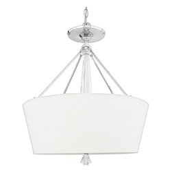 Quoizel - Quoizel DX2830C Deluxe Modern/Contemporary Inverted Pendant Light - A swank, soft modern look paying homage to the days when Frank, Dean and Sammy were serving martinis and cosmopolitans in their sleek Palm Springs homes. Contains genuine lead crystal.