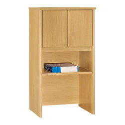 "BBF - Bush Series C 24""W Overhead in Light Oak Finish - Bush - Hutch - WC60306 - From private offices to workstations, Series C configures in dozens of ways, giving you the flexibility to design your workspace in the way that best suits your working style."