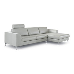 White Line Imports - Angela Gray Sectional with Right-Side Chaise - Features: