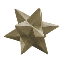 Design Craft - Shooting Star 19-inch High With Sandstone Finish Garden Decor - Ornamental and weatherproof,this star garden decor is finished in a pale sandstone color. This star will look amazing in your garden amidst all of your favorite plants,and its magnesium oxide construction guarantees it will last a long time.