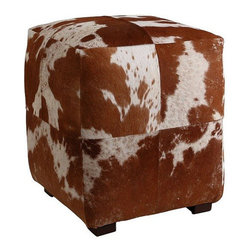 Arteriors Home - Arteriors Home Otto Patchwork Ottoman - Arteriors Home 2697 - Bring rustic style indoors with this smooth patchwork hide upholstered ottoman. Kick up your boots on this brown and white square, which would look right at home in either urban or rural-themed homes.