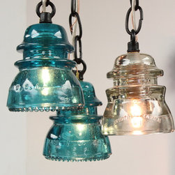Latest Work - Repurposed Insulator Pendants