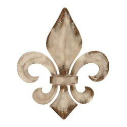 "Benzara - Decorative Metal Fleur De Lis Charm with Classic Style - Decorative Metal Fleur De Lis Charm with Classic Style. This decorative Wall art with the antique look enhances the beauty of your decor. It comes with a following dimensions 25""W x 1""D x 30""H."