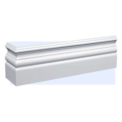 "Inviting Home - Davie Baseboard - baseboard molding 6-1/4""H x 7/8""P x 8'00""L baseboard sold in 8'00"" foot length 4 piece minimum order required Baseboard Specifications: Outstanding quality baseboard made from technologically advanced high-density polyurethane. Baseboard is pre-primed with water-based white paint and has tough surface. Molding is ightweight durable and easy to install using common woodworking tools. Metal dies were used for consistent quality and perfect part to part match for hassle free installation. Baseboard has sharp deep and highly defined design and can be finished with any quality paints."