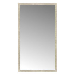 "Posters 2 Prints, LLC - 40"" x 71"" Libretto Antique Silver Custom Framed Mirror - 40"" x 71"" Custom Framed Mirror made by Posters 2 Prints. Standard glass with unrivaled selection of crafted mirror frames.  Protected with category II safety backing to keep glass fragments together should the mirror be accidentally broken.  Safe arrival guaranteed.  Made in the United States of America"