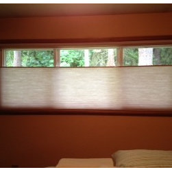 Cellular Shades - This Federal Way, WA home went with a top down, bottom up cell shade in their bedroom!