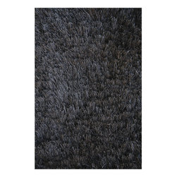 "Noble House - Crystal Solid Black Rug - This collection is made on hand loom construction, with poly blended special yarn with furry feel in high pile. Trendy colors are used to make this collection compatible with the modern interior. Feels and shines like real silk. Features: -Technique: Woven.-Material: Polyester.-Depending on amount of traffic on rugs, professional cleaning or washing is required every 1 to 2 years..-Rugs should be vacuumed on regular basis to remove dust and dirt which would restore life to the fibers. Do not vacuum the fringes. Do not Vacuum Shaggy rugs as it will damage the rug. To clean the Shaggy rug, flip it over and shake well by hand..-To avoid spills setting deep and becoming stubborn, it is recommended to act immediately. When spills occur on rugs, put some water in the affected area to dilute, blot with clean white cloth or paper towel. Remove the moisture as much as possible by blotting with absorbent cloth or thick paper towel. Do not rub spills as could result in setting spills deeper in the affected area..-Features:Construction: Handmade.-Recommended Care:Do not expose rugs in direct sun light for longer time as it could result in faded colors of rugs..-Collection: Crystal solid.-Distressed: No.-Collection: Crystal Solid.-Construction: Handmade.-Primary Color: Black.-Type of Backing: Latex.-Material: Polyester.-Fringe: No.-Reversible: No.-Rug Pad Needed: No.-Water Repellent: No.-Mildew Resistant: No.-Stain Resistant: No.-Fade Resistant: No.-Eco-Friendly: No.-Recycled Content: No.-Outdoor Use: No.-Product Care: In case of liquid, blot clean with undyed cloth by pressing firmly around the spill to absorb as much as possible..Specifications: -CRI certified: No.-Goodweave certified: No.Dimensions: -Pile height: 0.08''.-Overall Dimensions: 72-132'' Height x 48-96'' Width x 0.08'' Depth.-Pile Height: 2"".-Overall Product Weight (Rug Size: 4' x 6'): 30 lbs.-Overall Product Weight (Rug Size: 5' x 8'): 45 lbs.-Overall Product Weight (Rug Size: 8' x 11'): 75 lbs.Warranty: -Product Warranty: No warranty."