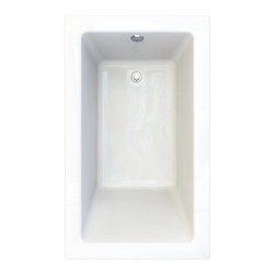 """American Standard - American Standard 2934.002-D0.020 White / Zero Edge Profile Studio - Product Features:Fully covered under a lifetime warranty; including free lifetime in-home serviceManufactured and assembled in CanadaSoaking tub; basic and easy to installDrop-in installation; tub is dropped into a pre-cut deck or islandConstructed of ultra-durable fiberglass-reinforced acrylicSurfaced with the industry s best stain-blocking high-gloss finishTub proportions and contour designed by industry leading ergonomics engineersSlip-resistant flooring - textured finishing technique appliedSelf-leveling base structural support cuts installation time and costsTub waste (drain) is not included - this will be presented upon adding to cart, with multiple available finishesTechnologies / Benefits:Lifetime Warranty with In-Home Service: This tub is covered under the industry's only Limited Lifetime Warranty with free lifetime in-home service. This speaks volumes to the quality of American Standard tubs.Deep Soak: This patented overflow system works with an exclusive drain, positioned significantly higher within the bathing well. With water depths reaching 2"""" to 4"""" deeper than other bathtubs, Deep Soak tubs allow for better full-body submergence.Self-Leveling Base: A major time-saver during installation, this tub's self-leveling base eliminates the need to fret over a perfectly level base structural support… high-density compressible pads do the work for you, compensating for any imperfections. DIY'ers and contractors both appreciate this feature.Zero Edge: Definitively modern, the Zero Edge exclusive low-profile tub lip is perfect for undermount installations – or a clean, 'barely there' drop-in appearance.Premium Acrylic: Luxury American Standard tubs all use premium acrylic for a reason: it ret"""