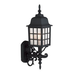 Exteriors - Exteriors Cast Aluminum Grid Cage Outdoor Wall Sconce - Medium X-50-475Z - No stylish home should be without medium-sized Craftmade Cast Aluminum Grid Cage Outdoor Wall Sconce. It's sure to stand out in any outdoor space, with its impeccably designed cast aluminum frame with seeded glass panels. It's the perfect choice when you need a light fixture that enhances the look of your home.