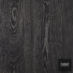 SQR Collection - Solo Black Washed Oak - Natural European white oak lightly wire-brushed with black stain, prefinished with white wash and UV cured oil.