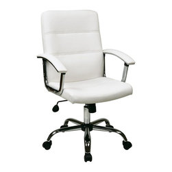 Avenue Six - Avenue Six Malta Office Chair in White - Avenue Six - Office Chairs - MAL26WH - Attractive office chair designed to blow you away. Adjustable height and tilt with heavy duty Chrome base make this chair sturdy and functional. Faux leather with PVC back and side provide the ultimate comfort for a busy day.
