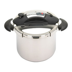 Frieling - Speedo Pressure Cooker With Timer - 18/10 stainless steel - professional grade, reinforced, insulated Bakelite fittings.