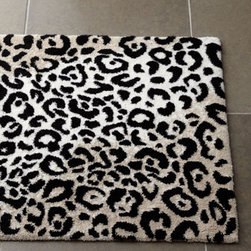 "Horchow - Abyss & Habidecor ""Leopard"" Bath Rugs - Add a wild touch to your bath with a plush, leopard-patterned bath rug in shades of black, ivory, and beige. By Abyss & Habidecor. Combed cotton and acrylic. Machine wash. Sizes are approximate. Made in Portugal."