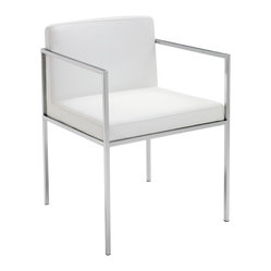 Paolo Dining Armchair, White, Set of 2
