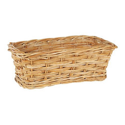 Eco Displayware - Window Rattan Basket in Natural - Great for closet, bath, pantry, office or toy and game storage. Earth friendly. 16.5 in. L x 9.5 in. W x 6 in. H (3.42 lbs.)These natural colored baskets add warmth and charm and keep you organized.