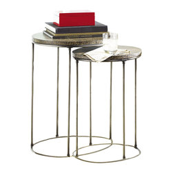 Hammary - Hidden Treasures Nest of Tables - Includes two tables. Limited warranty. 19 in. W x 19 in. D x 25.5 in. H