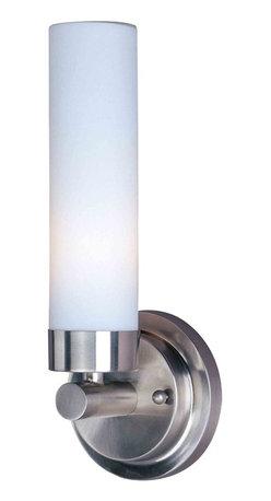 ET2 Lighting - ET2 Lighting E63006-11 Cilandro Satin Nickel Wall Sconce - 1 Bulb, Bulb Type: 18 Watt Quad T4 Fluorescent, Bulb Included